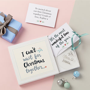 Couple's Christmas Decoration Gift Set - cards