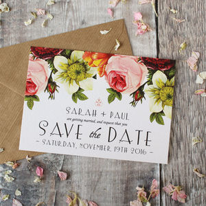 Modern Botanical Wedding Save The Date Cards