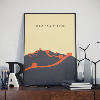 Great Wall Of China, Wonder Of The World, Print. Poster