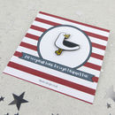 Seagull With A Stolen Chip Fun Enamel Pin Badge