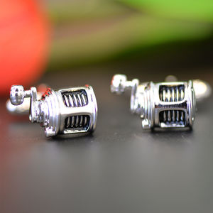 Fishing Reel Cufflinks - cufflinks