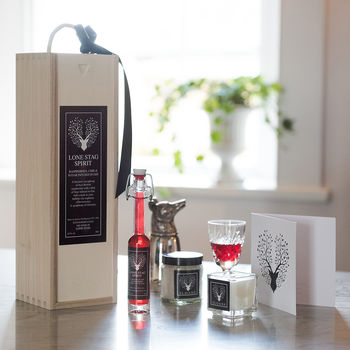 Luxury Gift Box Gin, Bath Salts And Hand Poured Candle
