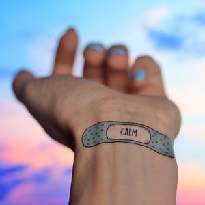 Cute Set Of Motivational Bandage Temporary Tattoos - what's new