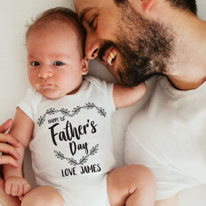 Personalised First Father's Day Mono Bodysuit