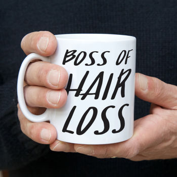 'Boss Of Hair Loss' Funny Father's Day Mug
