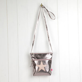 Metallic Star Crossbody Bag