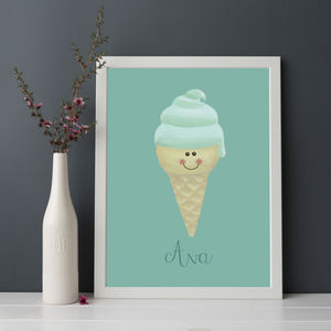 Personalised Ice Cream Print
