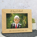 First Day Of School Solid Oak Photo Frame