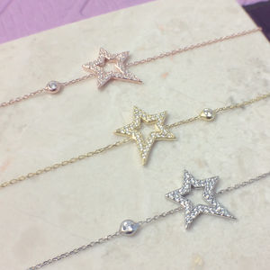 Open Star Bracelet Sterling Silver