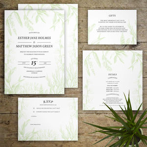 Flora And Fauna Wedding Invitations