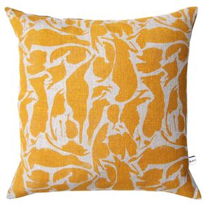 Creatures Linen Plump Duck Feather Pad Cushion - cushions