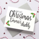 Personalised 1st Christmas As Parents Holly Card