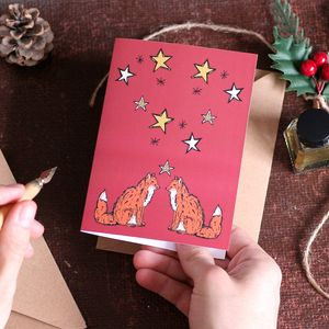 Woodland Fox Christmas Card