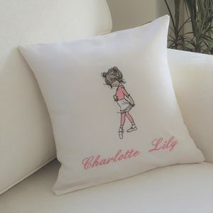 Personalised Embroidered Cushion With Dancer Motif - view all new