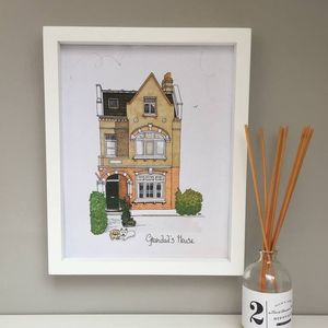 Personalised House Portrait Illustration - drawings & illustrations