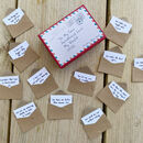 12 Mini Love Letters Personalised Anniversary Gift