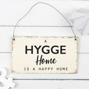 Hygge Home Wooden Sign - decorative accessories