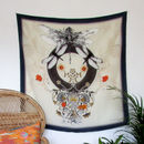 'Dragonfly' Illustrated Silk Scarf
