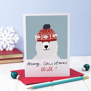 Pack Of Five Personalised Christmas Card - cards