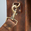 Personalised Handmade Buffalo Leather Briefcase