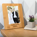 Personalised 5th Anniversary Bamboo Photo Board