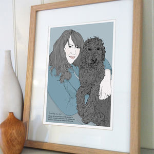 Personalised Portrait With Your Pet - pet portraits