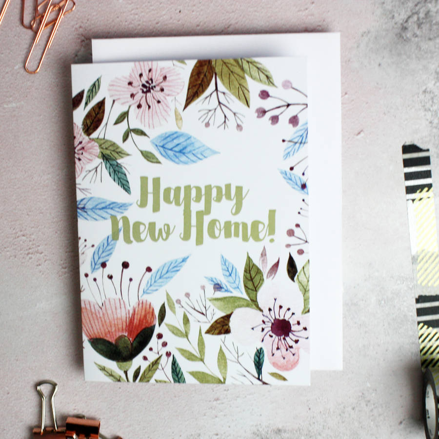 Happy new home greetings card by glb graphics happy new home greetings card kristyandbryce Image collections