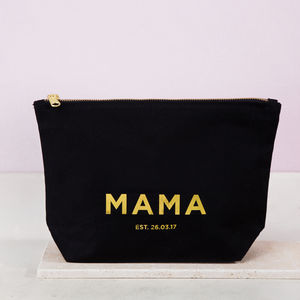 Personalised Gold Mother's Day Make Up Bag - mother's day gifts