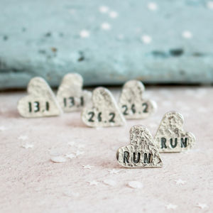 Runners Heart Stud Earrings