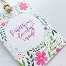 'Something Lovely Inside' Floral Gift Tag