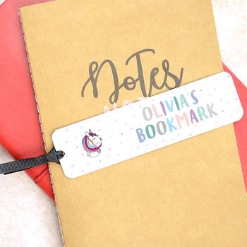 Personalised Unicorn Bookmark