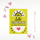 Hello Sunshine Lime And Coconut Card