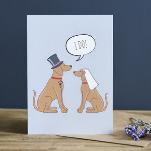 Vizsla Wedding / Engagement / Anniversary Card