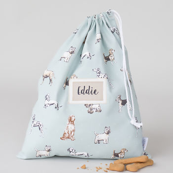 Personalised Dog Print Nursery Laundry Bag