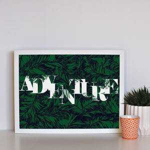 'Adventure' Tropical Framed Print - posters & prints