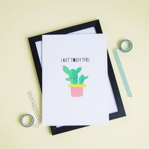 'Can't Touch This' Cactus Print - children's pictures & paintings