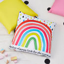 Children's Rainbow Personalised Square Cushion