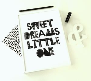 Sweet Dreams Little One Print Kids Room Art Print - children's room