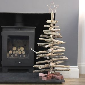 Copper And Driftwood Christmas Tree - christmas trees