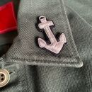 Anchor Hand Embroidered Pin