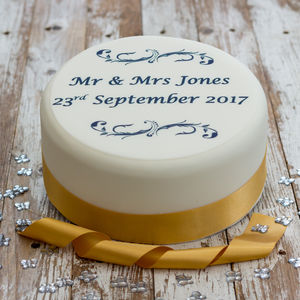 Personalised Wedding Cake Topper - cake decoration