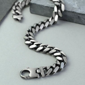 Sterling Silver Rounded Curb Bracelet