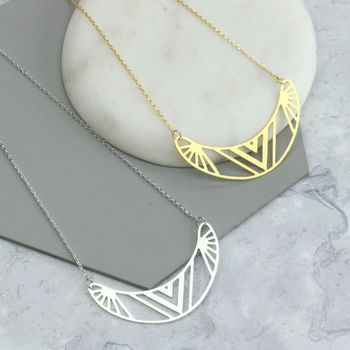Mabli Laser Cut Aztec Necklace