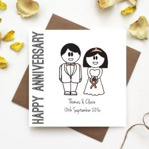 'Happy Anniversary' Wedding Card