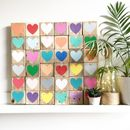 Reclaimed Wood Heart Mosaic Sign