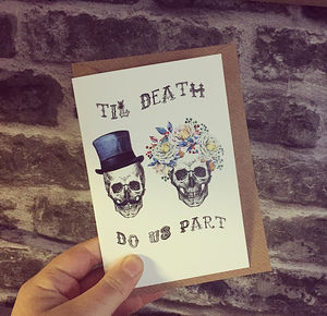 Til Death Greetings Card - wedding cards