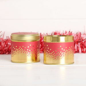 Log Fire Scented Candle Tin - home accessories