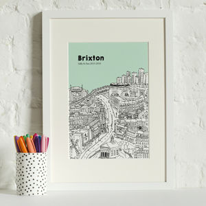 Personalised Brixton Print - maps & locations