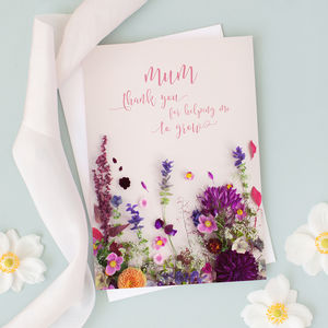 Floral Card For Mum - birthday cards
