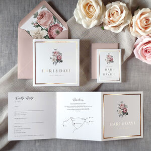 Bouquet Foil Wedding Invitation